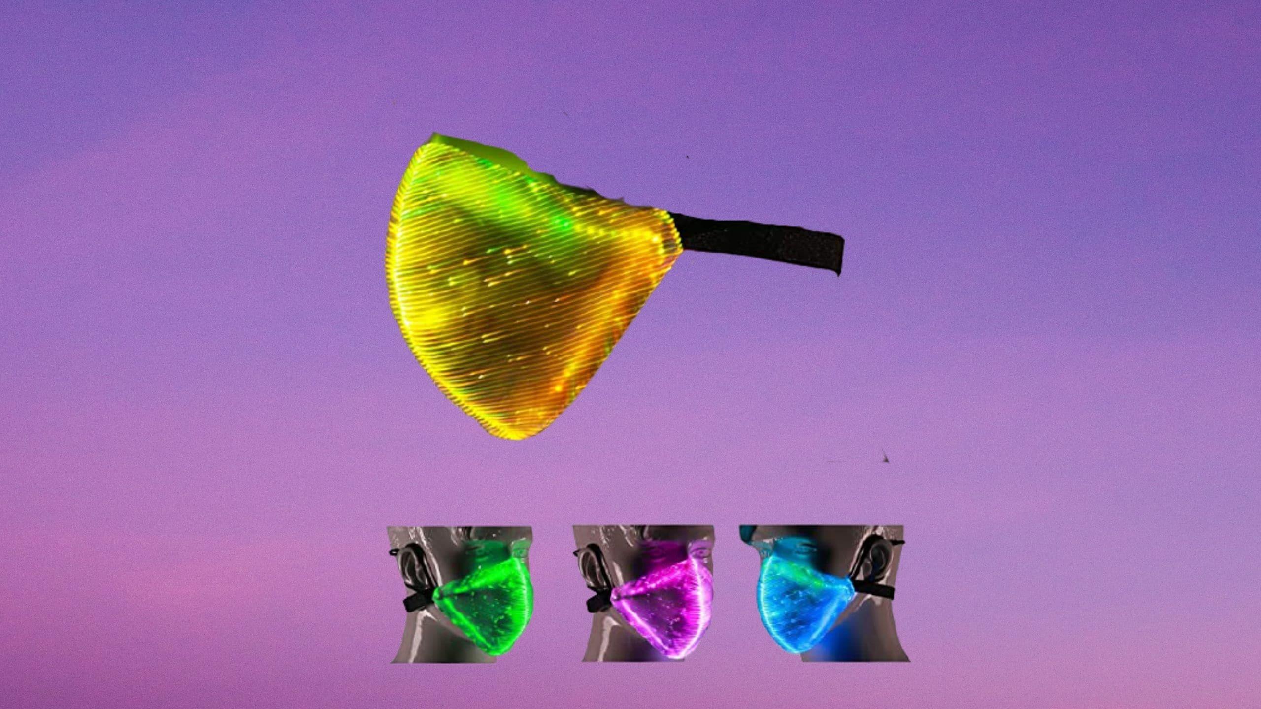 TECZERO's multi-color LED light-up Face Mask