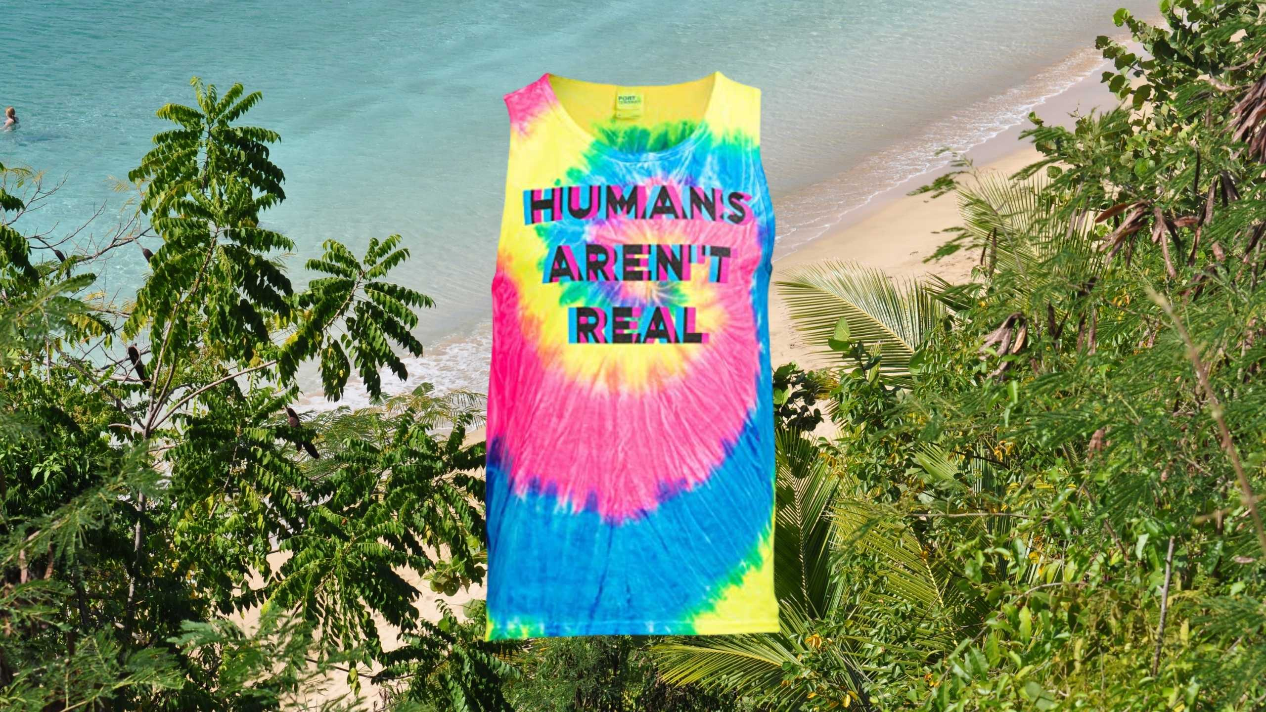 HUMANS ARENT REAL – Unisex Glitch Rave Tank top by Ann Arbor T-shirt and Co.