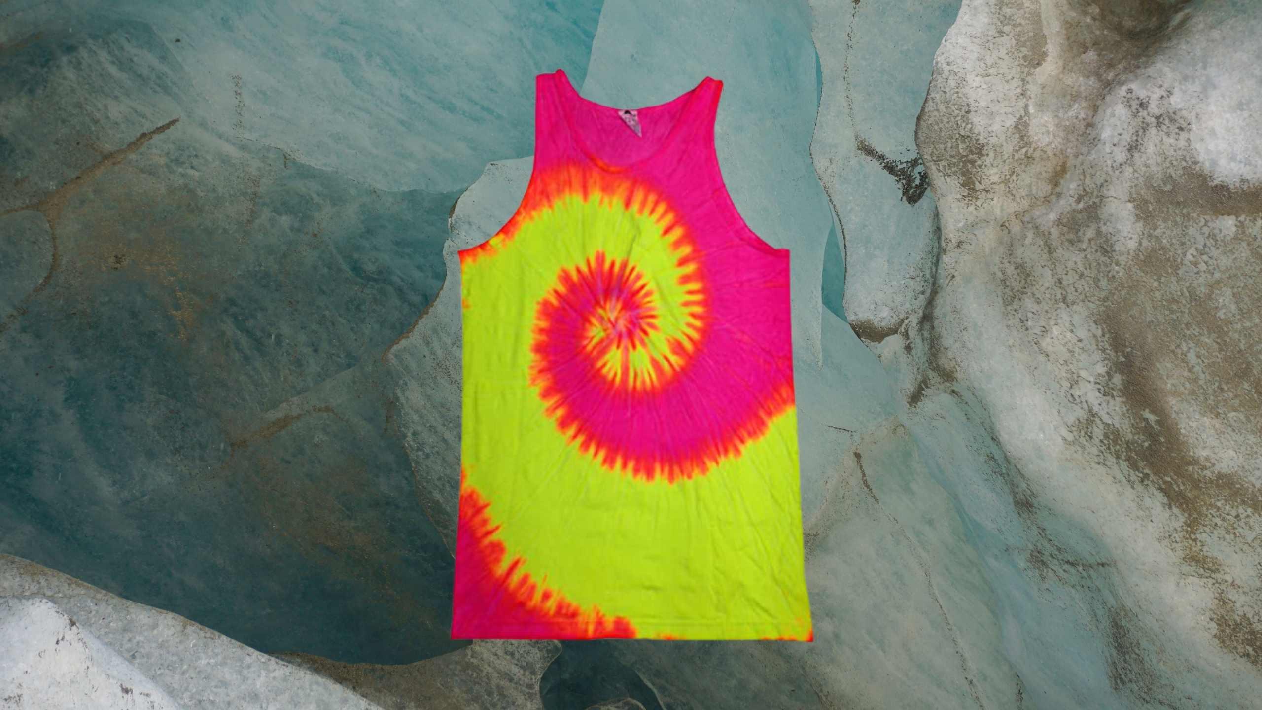 Unisex Tie – Dye Rave tank top by COLORTONE