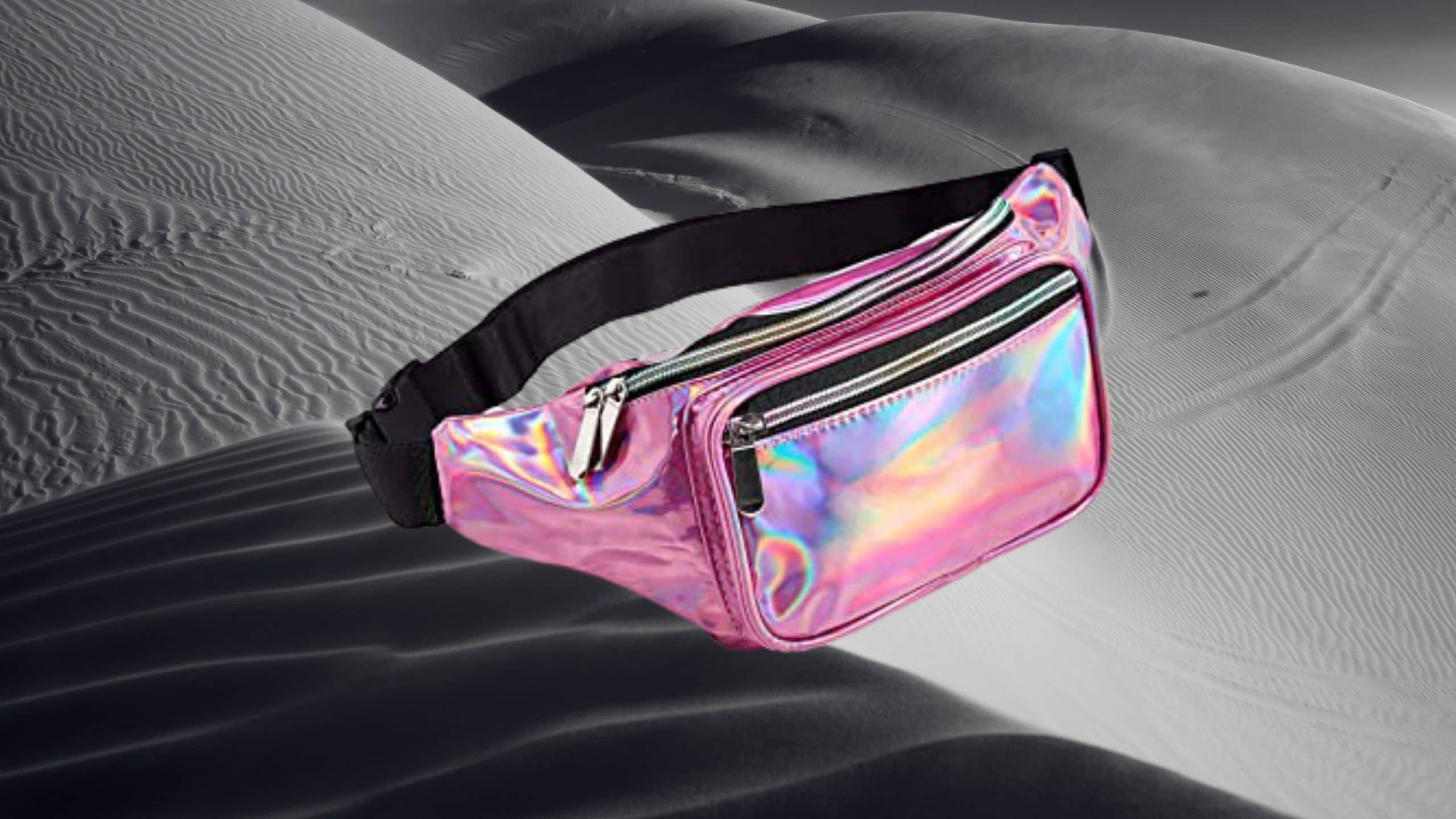 Pink Holographic Fanny Pack (Victoria's Secret) for women