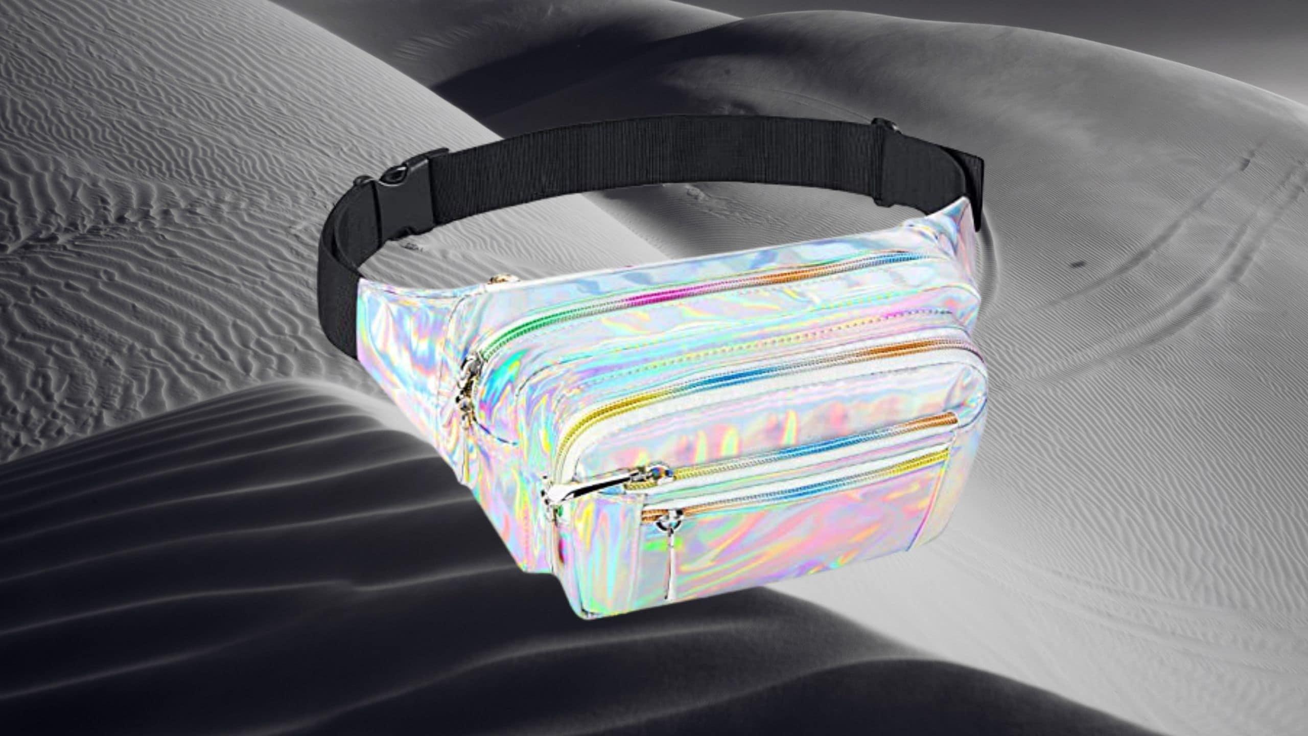 Holographic Belt Bag by Forliver (5 Pockets)