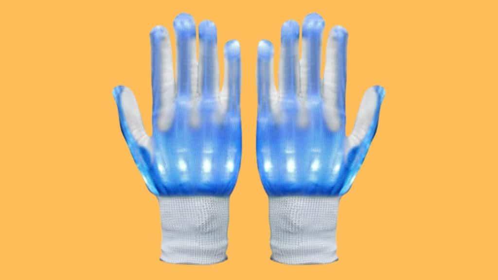 Alohaa LED Light up Skeleton Hand Gloves for raves