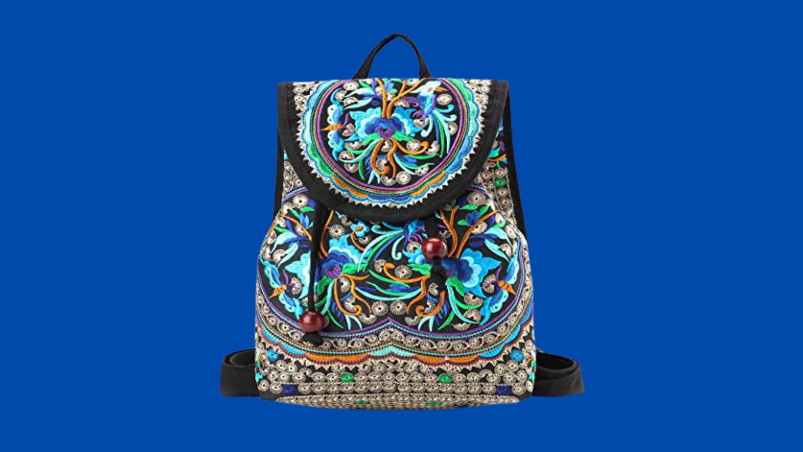 Goodhan Vintage Embroidered Backpack for Music Festivals