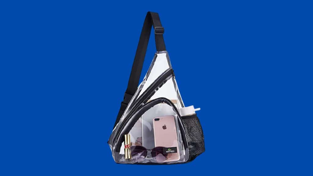 Transparent Cross Body Backpack for concerts by May Tree store