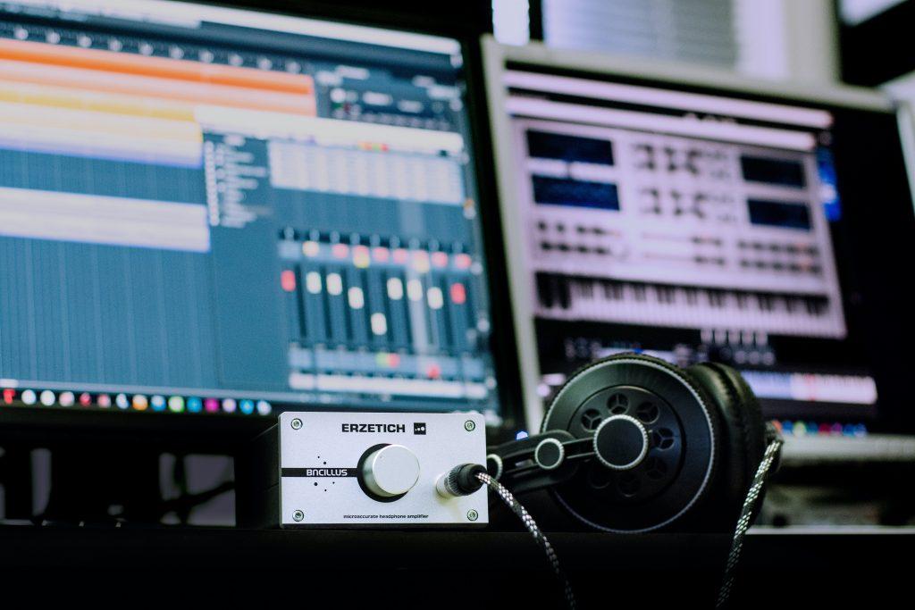 Music production equipment.