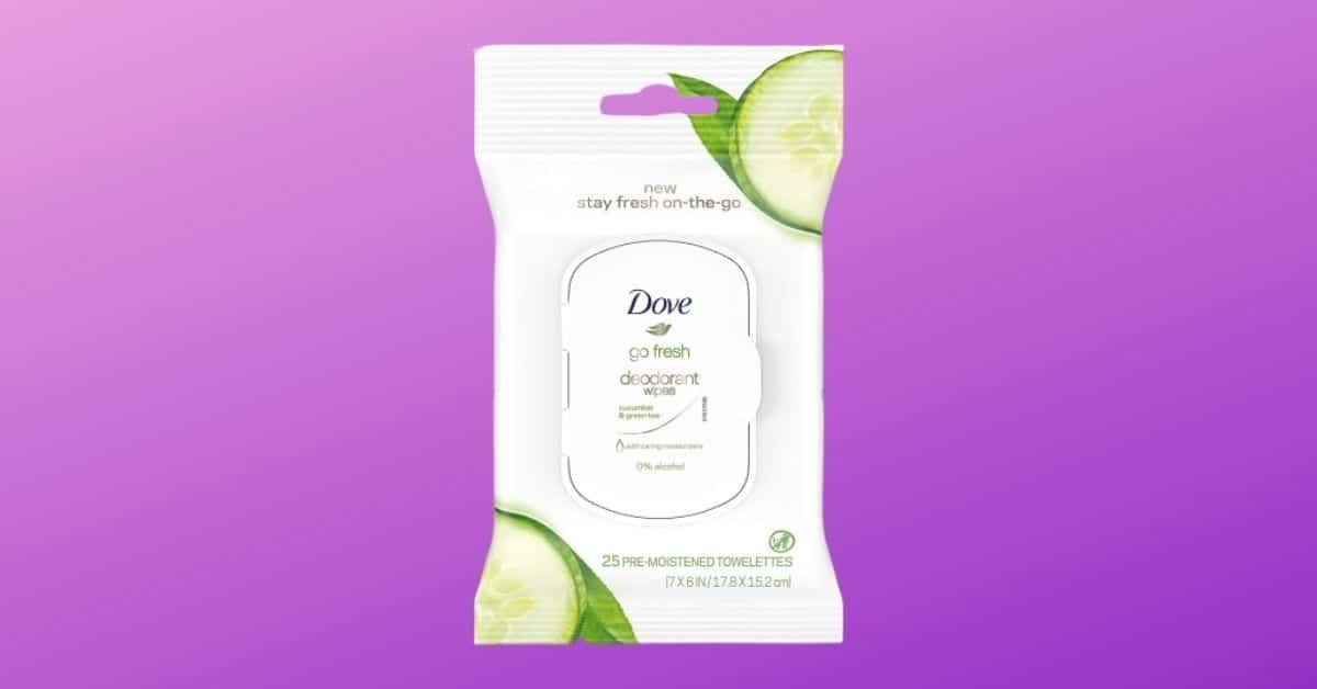 Dove Go Fresh Deodorant Body Wipes