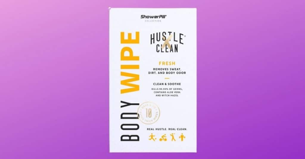 The Big Body wipes for Festivals by Shower Pill